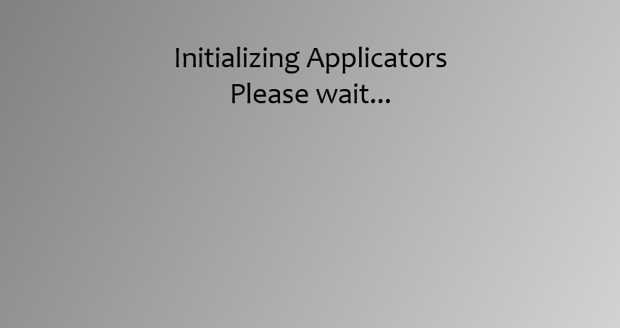 ApplicatorInitialisation English